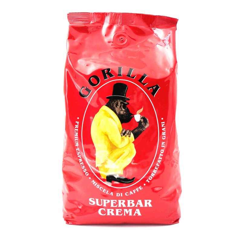 gorilla kaffee espresso superbar crema 1000g bohnen 12 99. Black Bedroom Furniture Sets. Home Design Ideas